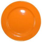 International Tableware CA-21-O Cancun 12 inch Orange Stoneware Rolled Edge Wide Rim Plate - 12/Case