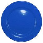 International Tableware CA-7-LB Cancun 7 1/8 inch Light Blue Stoneware Rolled Edge Wide Rim Plate - 36/Case