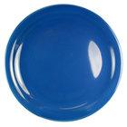 International Tableware CAN-6-LB Cancun 6 1/2 inch Light Blue Stoneware Rolled Edge Narrow Rim Plate - 36/Case