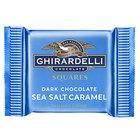 Ghirardelli Individually-Wrapped Dark Chocolate Sea Salt Caramel Squares - 430/Case
