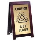 Cal Mil 851-WET WET FLOOR Wood Sign