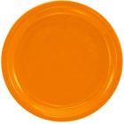 International Tableware CAN-7-O Cancun 7 1/4 inch Orange Stoneware Rolled Edge Narrow Rim Plate - 36/Case