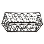 American Metalcraft EBB59B Black Loop-D-Loop Rectangular Basket - 9 inch x 6 inch x 2 1/2 inch