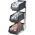 Cal-Mil 841 Iron Three Tier Condiment Display with Black Bins - 14
