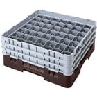 Cambro 49S800167 Brown Camrack Customizable 49 Compartment 8 1/2 inch Glass Rack