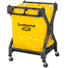 Continental Laundry Cart, Huskee 275 Black X Frame Folding Cart