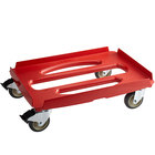 """Cambro CDC300358 Cam GoBox® Hot Red Compact Camdolly® - 24 7/8"""" x 17 3/8"""" x 7 5 /16"""""""