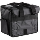 American Metalcraft BLSB1512 Deluxe Black Polyester Sandwich / Take-Out Delivery Bag, 15 inch x 9 inch x 12 inch