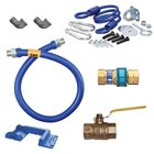 Dormont 1650KIT48PS Deluxe SnapFast® 48 inch Gas Connector Kit with Safety-Set® - 1/2 inch Diameter