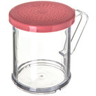 Carlisle 425055 8 oz. Polycarbonate Shaker / Dredge with Rose Lid for Medium Ground Product