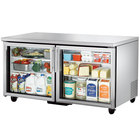True TUC-60G 60 inch Glass Door Undercounter Refrigerator