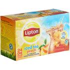 Lipton 24-Count Pack 1 Gallon Black Tea with Peach Iced Tea Filter Bags - 2/Case