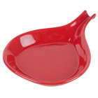 CAC FP-24-R Festiware Fry Pan Plate 12 inch x 9 inch - Red - 12/Case
