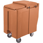 Cambro ICS125T157 SlidingLid™ Coffee Beige Portable Ice Bin - 125 lb. Capacity Tall Model