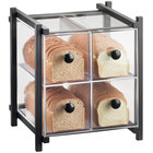 Cal-Mil 1146-13 One by One Four Drawer Black Bread Display Case - 14 inch x 14 3/4 inch x 15 3/4 inch