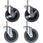 Carlisle Equivalent 4 inch Swivel Stem Casters for Fold 'N Go Carts   - 4/Set