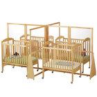Jonti-Craft Baltic Birch 1653JC 126 inch x 76 1/2 inch x 59 1/2 inch Hard Maple Wood See-Through Quad Crib Divider