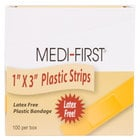 Medique 60033 Medi-First 1 inch x 3 inch Plastic Bandage Strip   - 100/Box