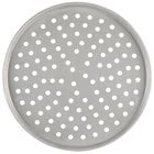 American Metalcraft PT2006 6 inch x 1/2 inch Perforated Tin-Plated Steel Tapered / Nesting Pizza Pan