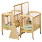 Jonti-Craft Baltic Birch 1655JC 20 inch x 63 inch x 59 1/2 inch Hard Maple Wood See-Through Large Crib Divider