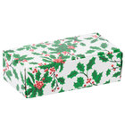 5 1/2 inch x 2 3/4 inch x 1 3/4 inch 1-Piece 1/2 lb. Holly / Holiday Candy Box - 250/Case
