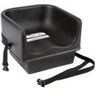 Cambro 100BCS110 Black Plastic Booster Seat - Single Seat with Strap