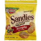 Keebler Mini Sandies 1 oz. Shortbread Cookie Snack Pack - 100/Case