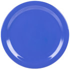 Carlisle 4350014 Dallas Ware 10 1/4 inch Ocean Blue Melamine Plate - 48 / Case