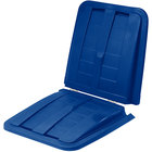 Toter LT110-00BLU Blue Removable Split Lid for 1 Cubic Yard Universal Tilt Trucks