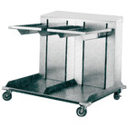 APW Wyott Lowerator CTRD-1014 Double Mobile Open Cantilever Tray Dispenser for 10