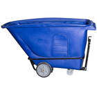 Toter UTT10-00BLU 1 Cubic Yard Blue Heavy-Duty Towable Tilt Truck with Handle (2000 lb.)