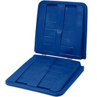 Toter LT115-00BLU Blue Removable Split Lid for 1.5 Cubic Yard Universal Tilt Trucks