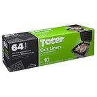Toter GB064-08000 64 Gallon Black Trash Can Liner - 80/Case