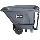 Toter UTT05-00IGY 0.5 Cubic Yard Gray Heavy-Duty Towable Tilt Truck with Handle (1200 lb.)