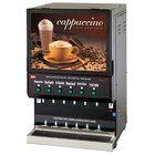Cecilware GB6M10-LD-U Destination Series Six Hopper Powdered Cappuccino Dispenser with Illuminated Vertical Lift Front - 120V