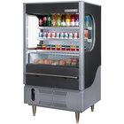 Beverage-Air VMHC7-1-B VueMax 35 inch Black Air Curtain Merchandiser