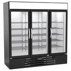Beverage-Air MMR72HC-1-B-WINE MarketMax 75 inch Black Glass Door Wine Refrigerator
