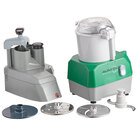 Avamix Revolution CFBB342DG Combination Commercial Food Processor with 3 qt. Gray Plastic Bowl and Continuous Feed Attachment - 120V, 1 hp