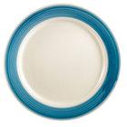CAC R-6-BLU Rainbow Plate 6 1/2 inch - Blue - 36/Case