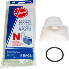 Hoover 4010050N Type N Pack of Disposable Vacuum Bags and Adapter Kit for Hoover PortaPower Lightweight Vacuums
