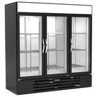 Beverage-Air MMRR72HC-1-C-BW-WINE MarketMax 75 inch Black Glass Door Dual Temperature Wine Refrigerator with White Interior