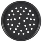 American Metalcraft PHC2007 7 inch x 1/2 inch Perforated Hard Coat Anodized Aluminum Tapered / Nesting Pizza Pan