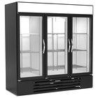 Beverage-Air MMRR72HC-1-B-BW-WINE MarketMax 75 inch Black Glass Door Dual Temperature Wine Refrigerator with White Interior