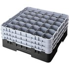 Cambro 36S1058110 Black Camrack Customizable 36 Compartment 11 inch Glass Rack