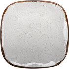 GET SCS-9-RM Rustic Mill 9 1/2 inch Glazed Irregular Square Melamine Coupe Plate - 12/Case