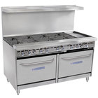 Bakers Pride Restaurant Series 60-BP-8B-G12-S26 Liquid Propane 8 Burner Range with Two Standard 26 inch Ovens and 12 inch Griddle