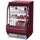 Turbo Air TCDD-36H-R-N 36 inch Red Curved Glass Refrigerated Deli Case