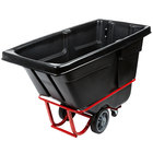 Rubbermaid 0.5 Cubic Yard Black Rotomolded Tilt Truck / Trash Cart with Hinged Dome Lid (1400 lb.)