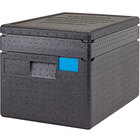 Cambro Cam GoBox® Full Size 8 inch Deep EPP Top Loader Insulated Food Pan Carrier with Camchiller® and Insert