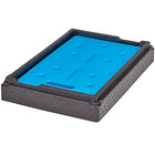 Cambro Cam GoBox® Full Size 6 inch Deep EPP Top Loader Insulated Food Pan Carrier with Camchiller® and Insert